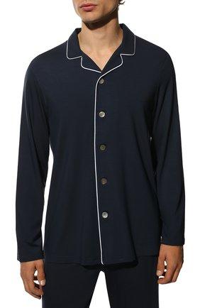 Мужская пижама DEREK ROSE темно-синего цвета, арт. 4070-BASE001   Фото 3 (Рукава: Длинные; Кросс-КТ: домашняя одежда; Материал внешний: Синтетический материал; Длина (для топов): Стандартные)