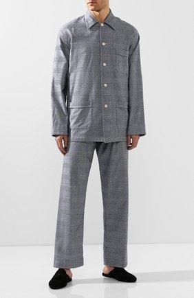Мужская хлопковая пижама DEREK ROSE темно-синего цвета, арт. 5000-KELB010 | Фото 1