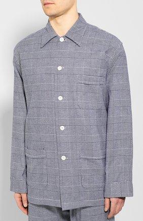 Мужская хлопковая пижама DEREK ROSE темно-синего цвета, арт. 5000-KELB010 | Фото 2