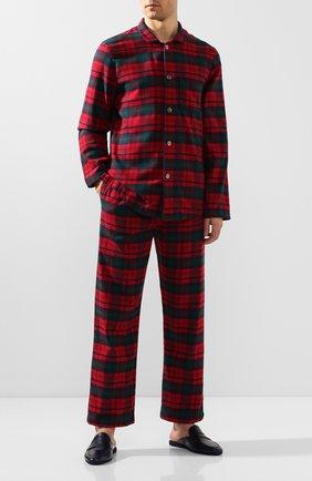 Мужская хлопковая пижама DEREK ROSE красного цвета, арт. 5065-KELB009 | Фото 1