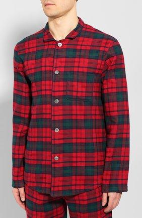 Мужская хлопковая пижама DEREK ROSE красного цвета, арт. 5065-KELB009 | Фото 2