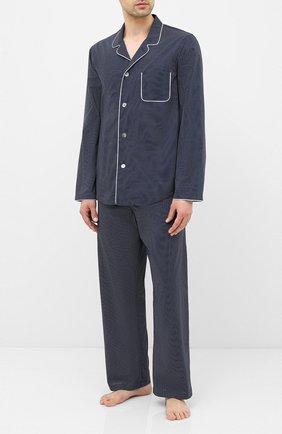 Мужская хлопковая пижама DEREK ROSE темно-синего цвета, арт. 5065-PLAZ021 | Фото 1