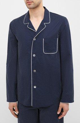 Мужская хлопковая пижама DEREK ROSE темно-синего цвета, арт. 5065-PLAZ021 | Фото 2