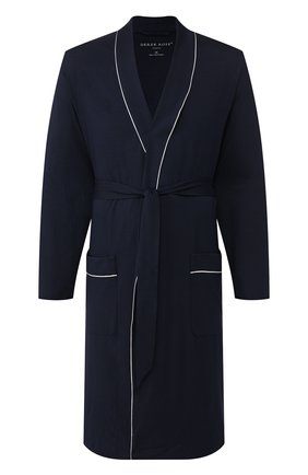 Мужской халат DEREK ROSE темно-синего цвета, арт. 5715-BASE001 | Фото 1