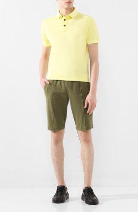 Мужское хлопковое поло STONE ISLAND желтого цвета, арт. 721524212 | Фото 2