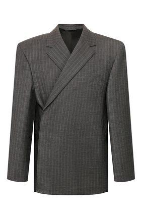 Мужской шерстяной пиджак BALENCIAGA серого цвета, арт. 602305/TGT15 | Фото 1