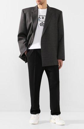 Мужской шерстяной пиджак BALENCIAGA серого цвета, арт. 602305/TGT15 | Фото 2