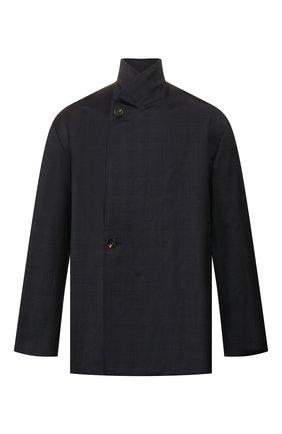 Мужской шерстяной пиджак BALENCIAGA темно-синего цвета, арт. 601167/TGT01 | Фото 1