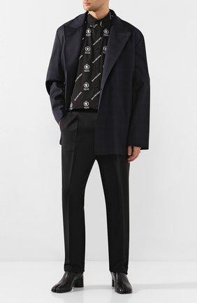 Мужской шерстяной пиджак BALENCIAGA темно-синего цвета, арт. 601167/TGT01 | Фото 2