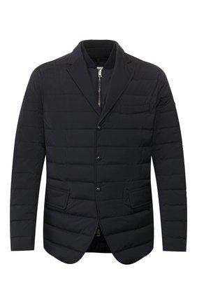 Мужская пуховая куртка cyprien MONCLER темно-синего цвета, арт. F1-091-1B522-00-53132 | Фото 1