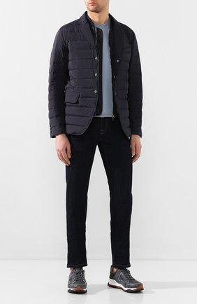 Мужская пуховая куртка cyprien MONCLER темно-синего цвета, арт. F1-091-1B522-00-53132 | Фото 2
