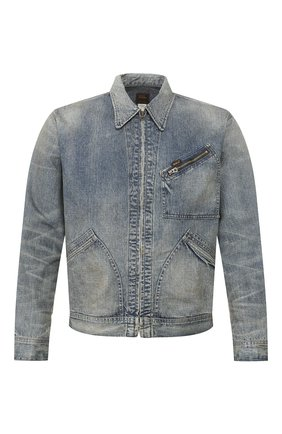 Мужская джинсовая куртка RRL синего цвета, арт. 782782873 | Фото 1