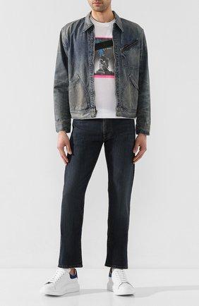 Мужская джинсовая куртка RRL синего цвета, арт. 782782873 | Фото 2
