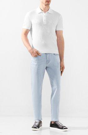 Мужские джинсы Z ZEGNA голубого цвета, арт. VU715/ZZ510   Фото 2
