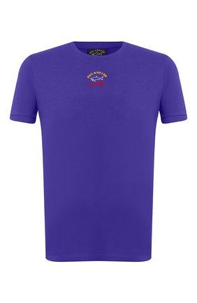 Мужская хлопковая футболка PAUL&SHARK фиолетового цвета, арт. E20P1034 | Фото 1