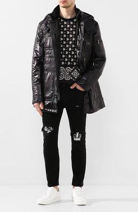 Мужская утепленная куртка DOLCE & GABBANA черного цвета, арт. G9RE3T/HUMGG | Фото 2