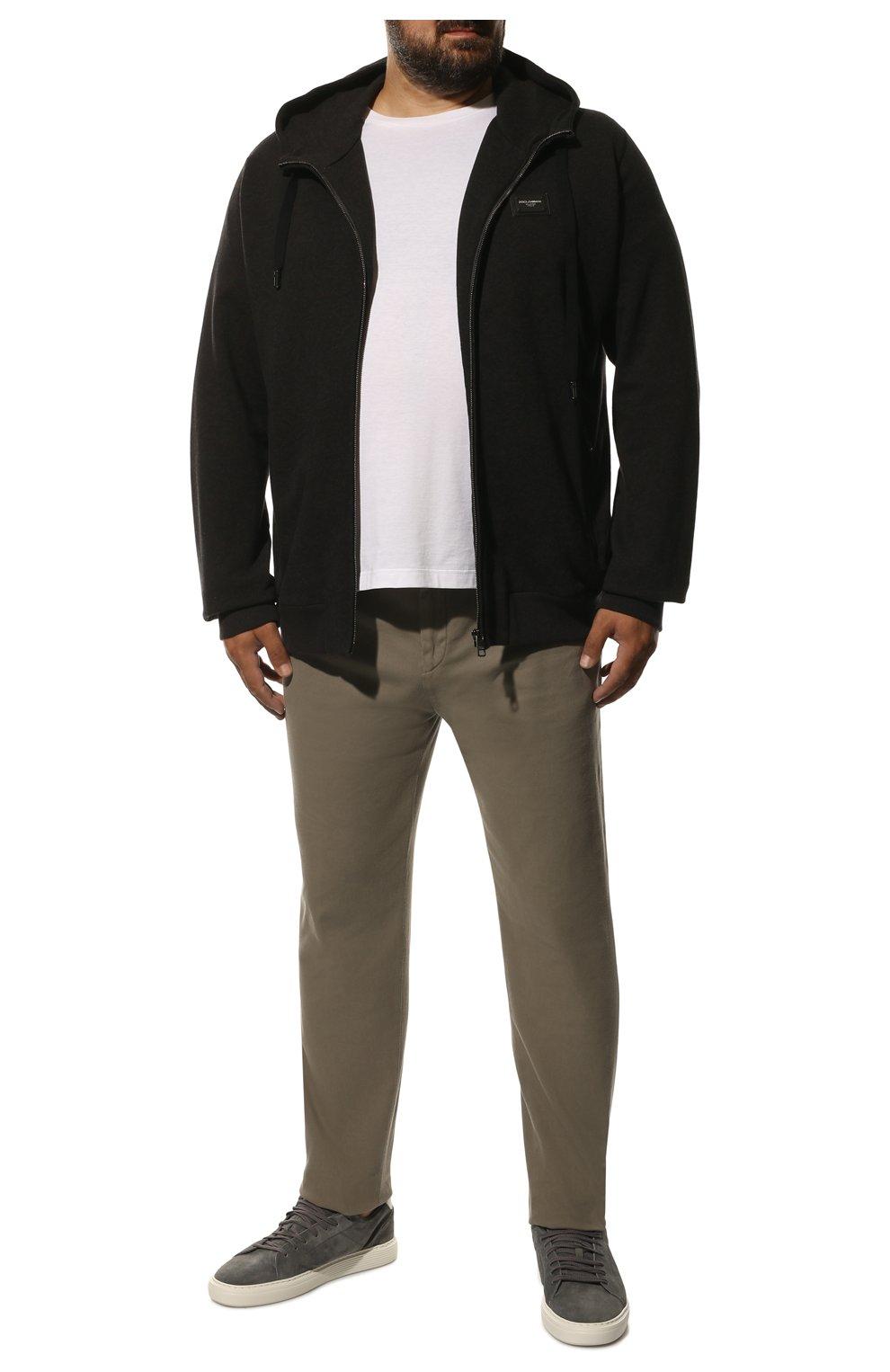 Мужской хлопковая толстовка DOLCE & GABBANA темно-серого цвета, арт. G9PD2T/FU7DU | Фото 2