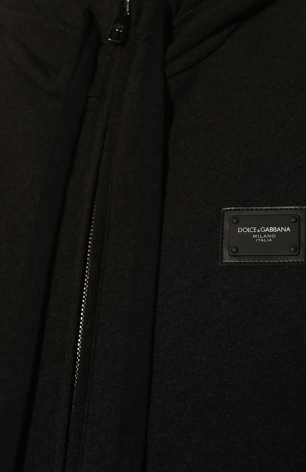 Мужской хлопковая толстовка DOLCE & GABBANA темно-серого цвета, арт. G9PD2T/FU7DU | Фото 5