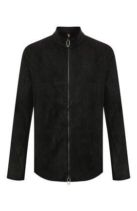Мужская кожаная куртка DANIELE BASTA черного цвета, арт. DB590X36ST/C0RIUM ST | Фото 1