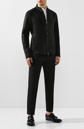 Мужская кожаная куртка DANIELE BASTA черного цвета, арт. DB590X36ST/C0RIUM ST | Фото 2