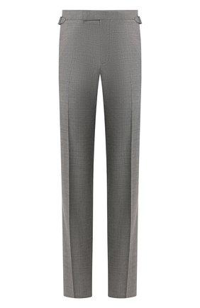 Мужской шерстяные брюки TOM FORD темно-серого цвета, арт. 711R50/610043 | Фото 1