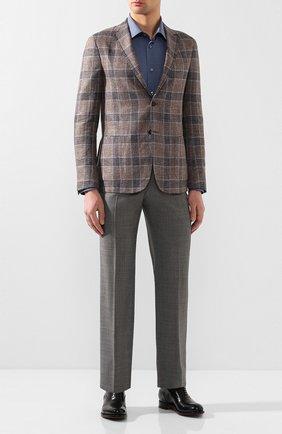 Мужской шерстяные брюки TOM FORD темно-серого цвета, арт. 711R50/610043 | Фото 2