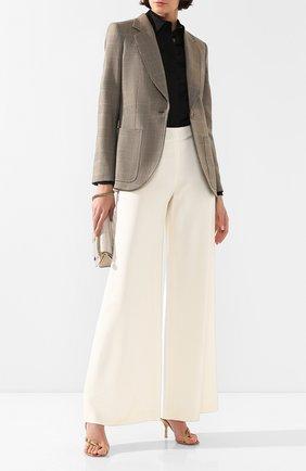 Женский шерстяной жакет RALPH LAUREN коричневого цвета, арт. 290678432 | Фото 2