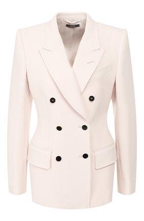 Женский шерстяной жакет TOM FORD белого цвета, арт. GI2692-FAX431 | Фото 1