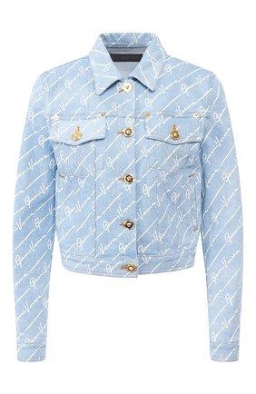 Женская джинсовая куртка VERSACE голубого цвета, арт. A85458/A233032 | Фото 1