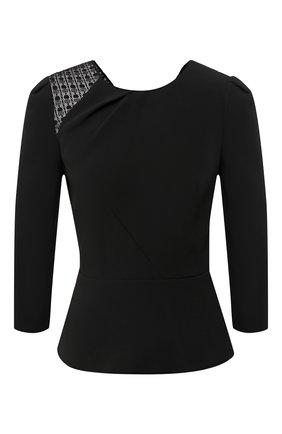 Женская блузка ROLAND MOURET черного цвета, арт. PS20/S0833/F0382   Фото 1