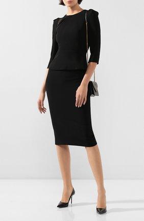 Женская блузка ROLAND MOURET черного цвета, арт. PS20/S0833/F0382   Фото 2
