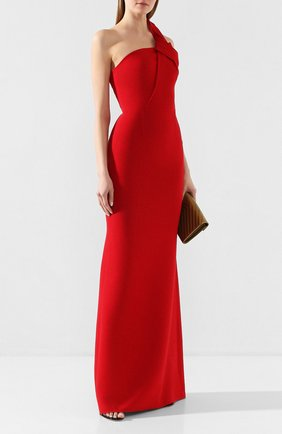 Женское шерстяное платье ROLAND MOURET красного цвета, арт. PS20/S0838/F4044 | Фото 2