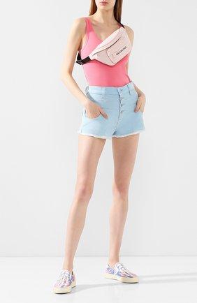 Женские вельветовые шорты AMIRI голубого цвета, арт. Y0W11473CY | Фото 2