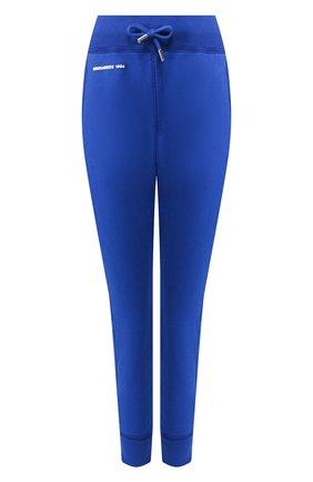Женские хлопковые джоггеры DSQUARED2 синего цвета, арт. S72KA0989/S25030 | Фото 1
