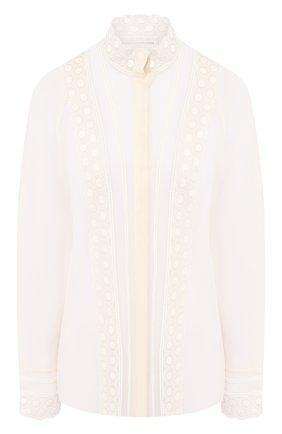 Женская шелковая блузка CHLOÉ бежевого цвета, арт. CHC20SHT03022 | Фото 1