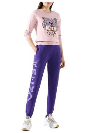 Женская хлопковый свитшот KENZO светло-розового цвета, арт. FA52SW7054XA | Фото 2