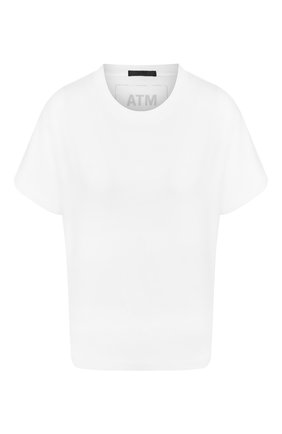 Женская хлопковая футболка ATM ANTHONY THOMAS MELILLO белого цвета, арт. AW1321-GAB | Фото 1
