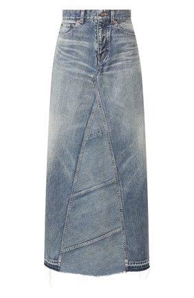 Женская джинсовая юбка SAINT LAURENT синего цвета, арт. 593677/Y551V | Фото 1