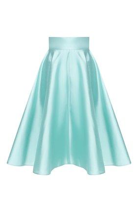 Женская шелковая юбка DOLCE & GABBANA бирюзового цвета, арт. F4BL8T/FU1L5 | Фото 1