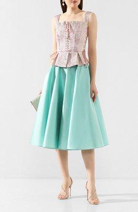 Женская шелковая юбка DOLCE & GABBANA бирюзового цвета, арт. F4BL8T/FU1L5 | Фото 2