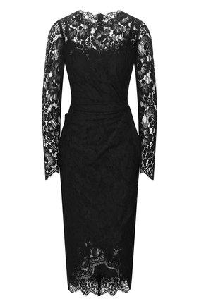 Женское хлопковое платье DOLCE & GABBANA черного цвета, арт. F6G8GT/FLMSC | Фото 1