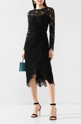 Женское хлопковое платье DOLCE & GABBANA черного цвета, арт. F6G8GT/FLMSC | Фото 2