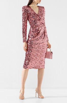 Женское платье с пайетками DOLCE & GABBANA розового цвета, арт. F6H0TT/HLMZM | Фото 2
