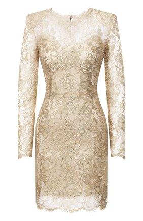 Женское платье DOLCE & GABBANA золотого цвета, арт. F6H8BT/HLM02 | Фото 1