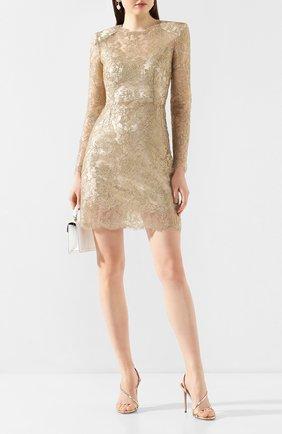 Женское платье DOLCE & GABBANA золотого цвета, арт. F6H8BT/HLM02 | Фото 2