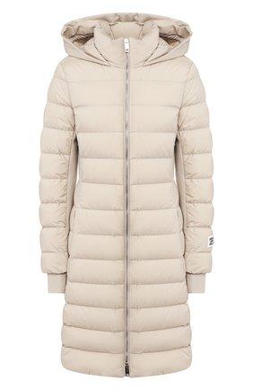 Женский пуховое пальто newbridge BURBERRY бежевого цвета, арт. 8022835 | Фото 1