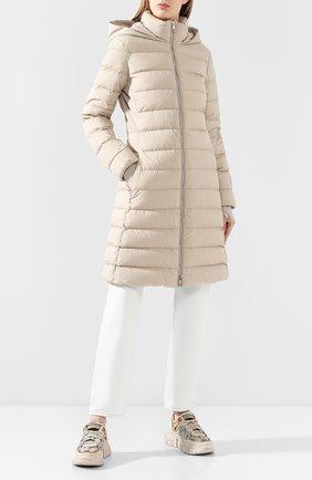 Женский пуховое пальто newbridge BURBERRY бежевого цвета, арт. 8022835 | Фото 2