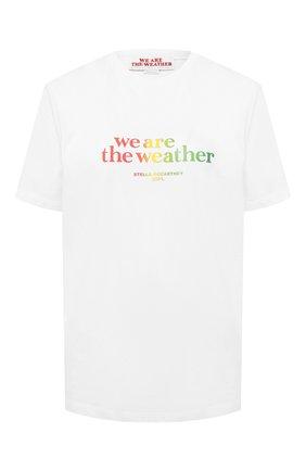 Женская хлопковая футболка STELLA MCCARTNEY белого цвета, арт. 381701/SNW52 | Фото 1
