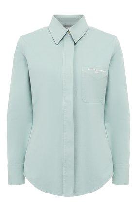 Женская хлопковая рубашка STELLA MCCARTNEY светло-зеленого цвета, арт. 597923/SLA53 | Фото 1