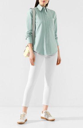 Женская хлопковая рубашка STELLA MCCARTNEY светло-зеленого цвета, арт. 597923/SLA53 | Фото 2